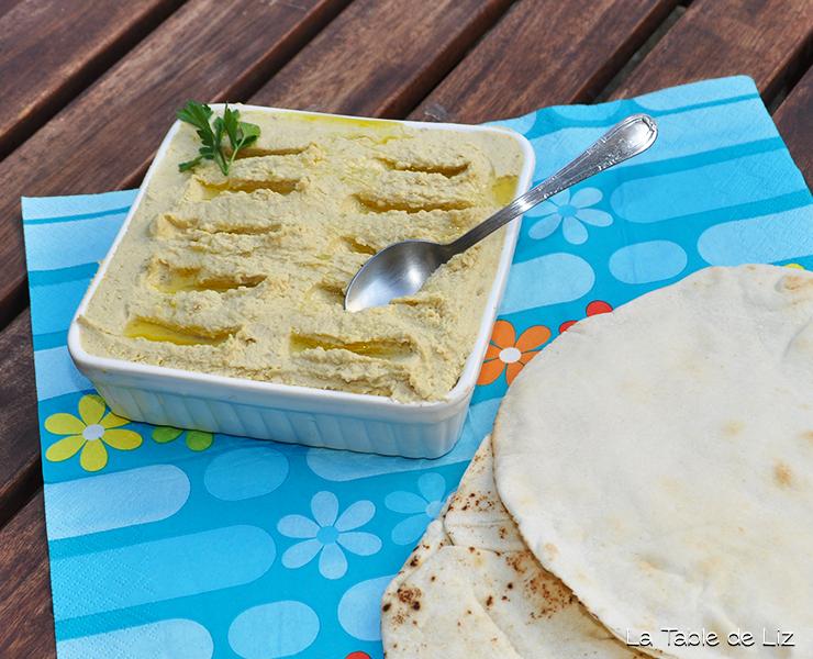 Houmous de pois chiches, recette végétarienne libanaise de La Table de Liz