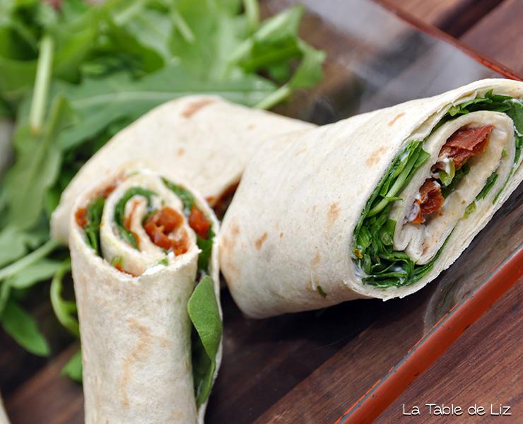 Wraps à l'italienne recette végétarienne de la Table de Liz