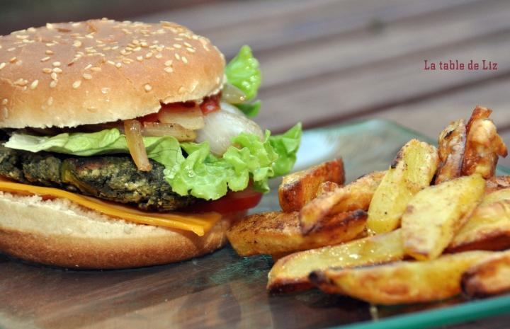 burger végétarien et frites la-table-de-liz