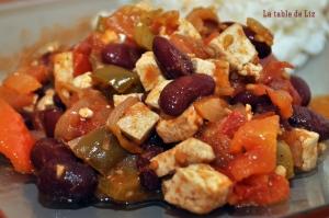 Chili con tofu de La table de Liz