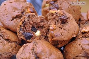 Muffins aux 2 chocolats et noix de pécan