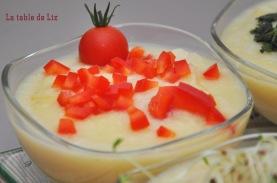 Velouté chou-fleur avec poivrons