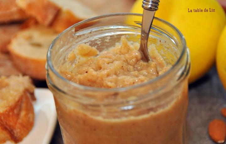 Pommela : pate à tartiner pommes amandes La-table-de-liz