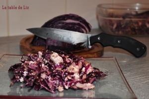 Salade de chou rouge et féta avec Bastinelli