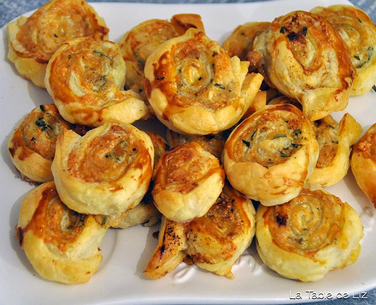 Feuilletés au comté et romarin, recette végétarienne de La Table de Liz