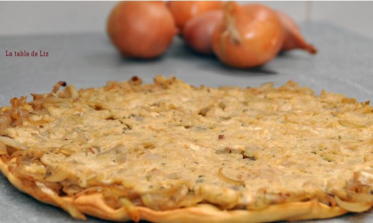 Tarte végane aux oignons caramélisés de La-Table-de-Liz