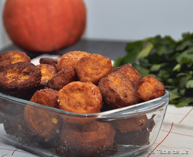 Pommes dauphines de potimarron recette végétarienne recette végane de La Table de Liz