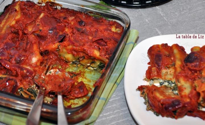 Cannellonis épinards et fromages italiens de La-table-de-Liz