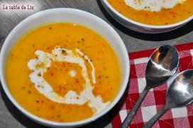 Velouté de butternut et tempeh de La table de Liz