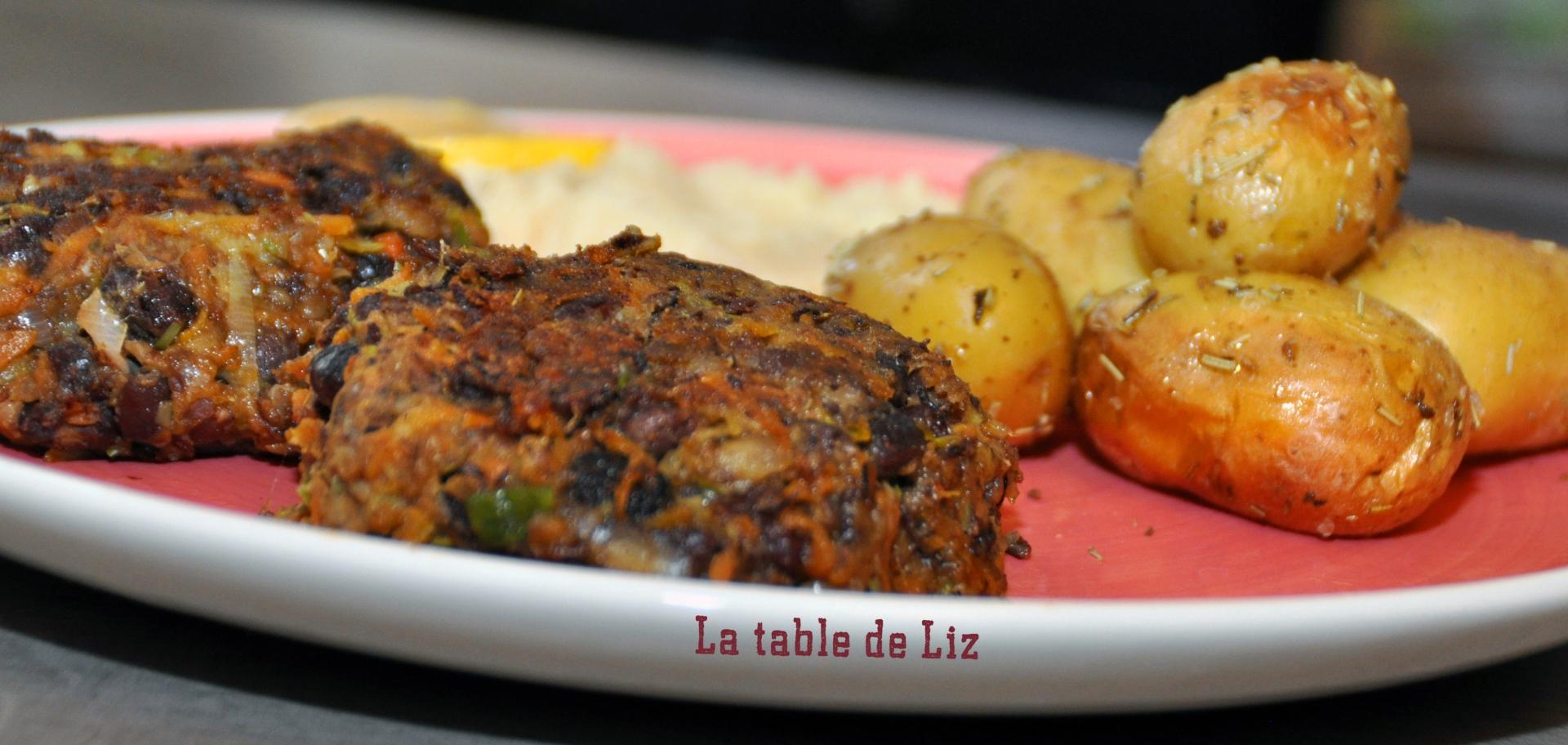 Galettes de haricots azukis poireaux et carottes. recette végétarienne de La Table de Liz