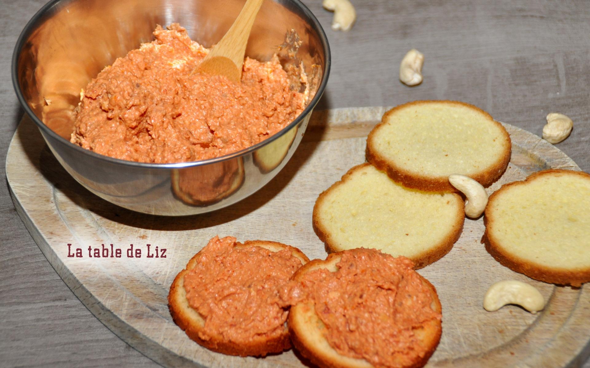 Tartinade de tomates séchées La-table-de-Liz