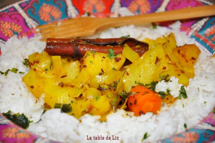 Chou aux 5 épices et son riz vanillé La-Table-de-Liz