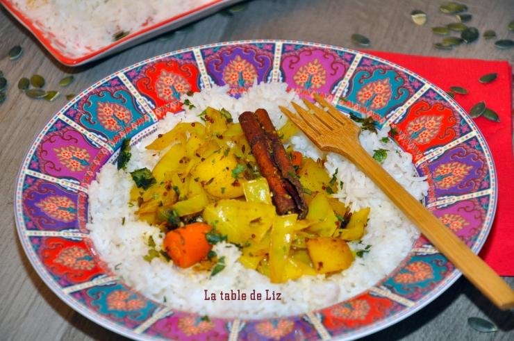 Chou aux 5 épices et riz vanillé de La-Table-de-Liz