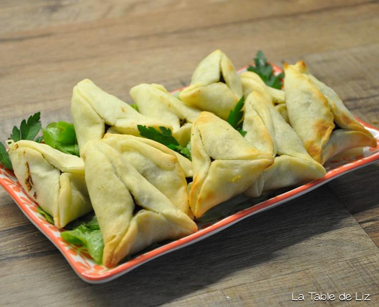 Fatayers : chaussons aux épinards, recette végétarienne, recette végane de La Table de Liz