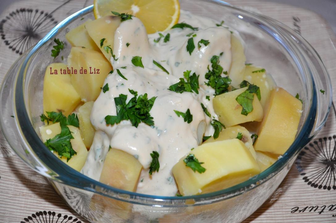Pommes de terre à la tahini, recette végétarienne de La table de Liza