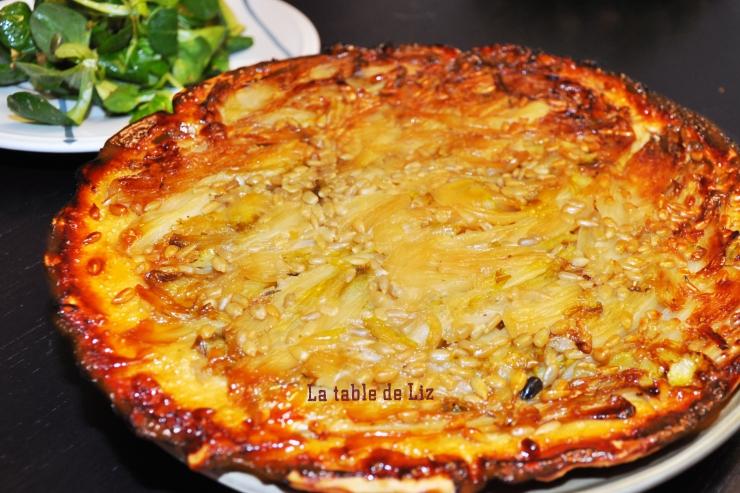 Tatin d'endives, recette végétarienne de La Table de Liz