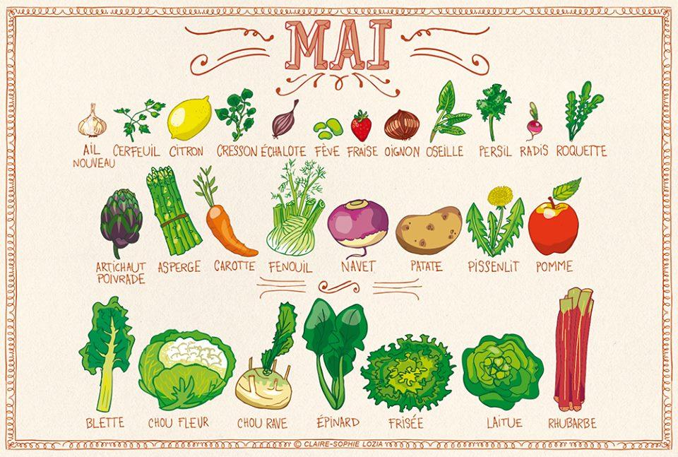 Fruits et légume de Mai