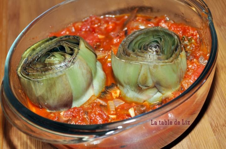 Artichauts sauce tomate provencale La-table-de-Liz