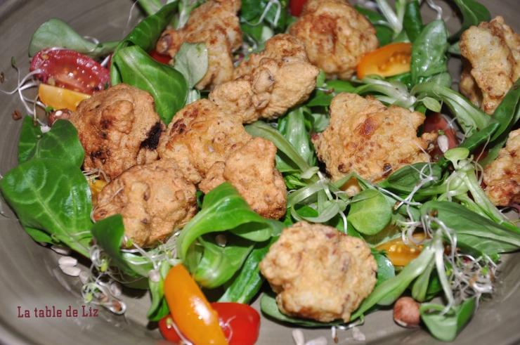 Beignets de chou fleur recette végétarienne La-Table-De-Liz