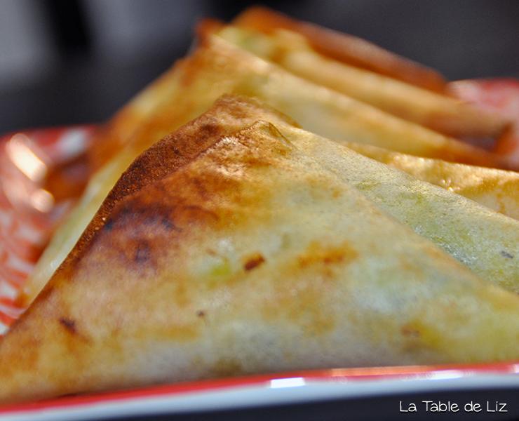 Samossas poireaux, recette végétarienne de La Table de Liz