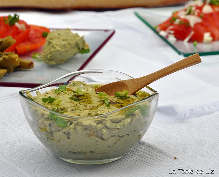Houmous au basilic, recette vegetarienne, recette vegane de La Table de Liz