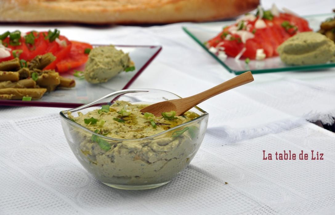 houmous basilic recette végétariennen vegan de La table de Liz