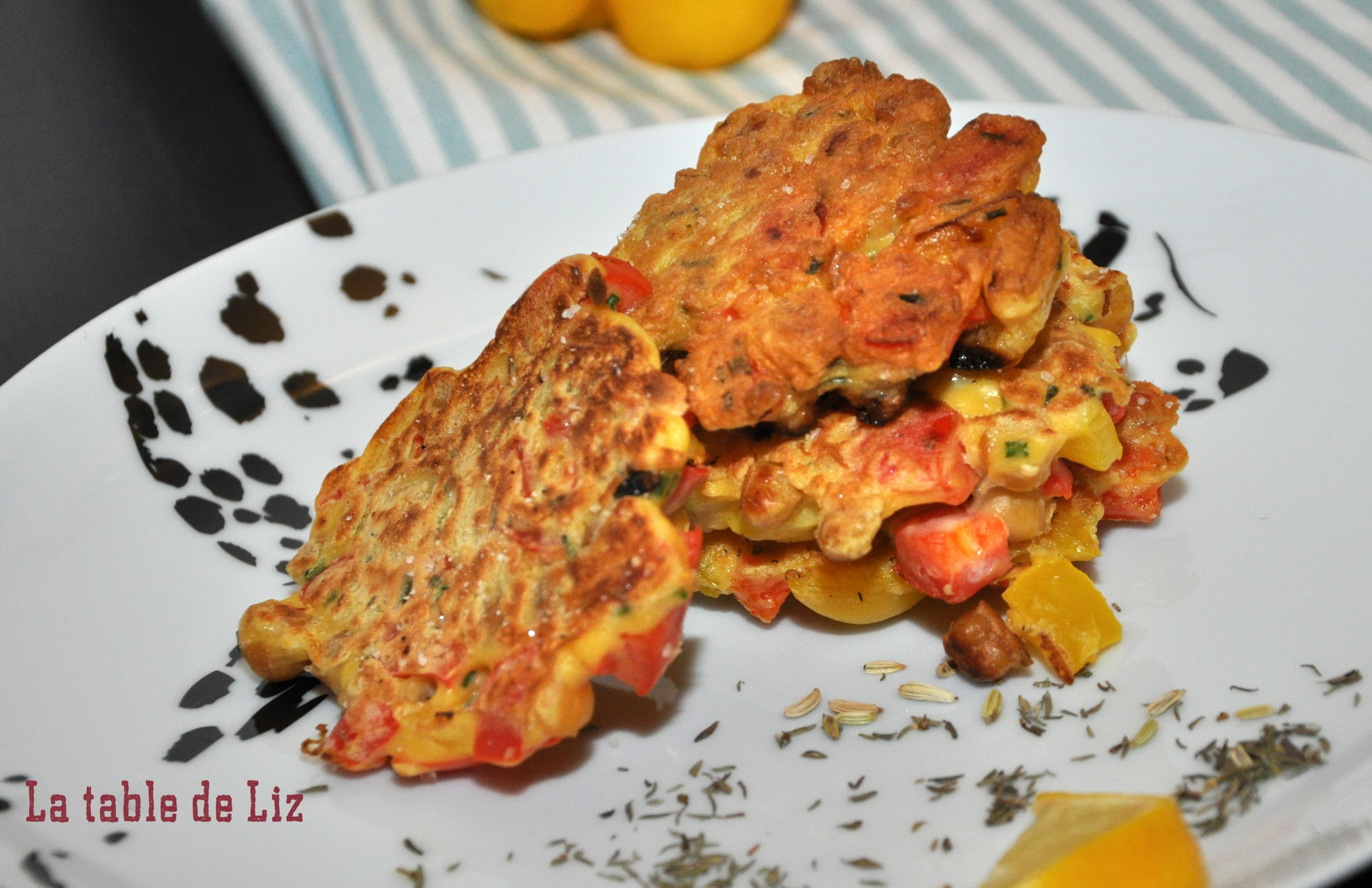 Mini-galettes poivrons et pois chiches détail La-Table-de-Liz