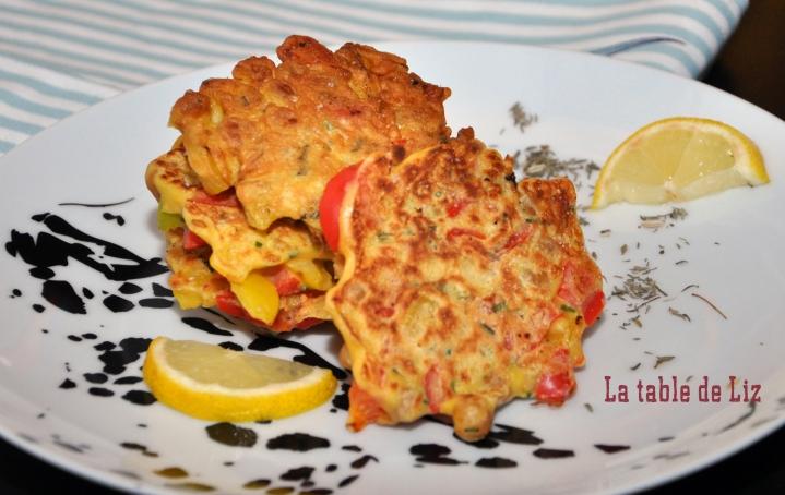Mini-galettes poivrons et pois chiches de La-Table-de-Liz