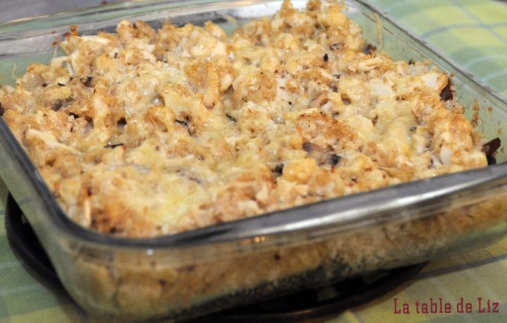 Gratin de quinoa et chou-fleur croquant, recette végétarienne de La Table De Liz