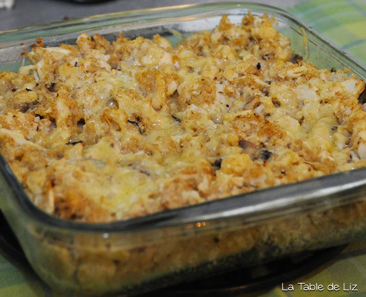 Gratin chou fleur croquant et quinoa, recette végétarienne recette végane de La Table de Liz