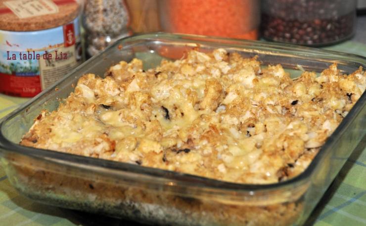 Gratin de quinoa et chou fleur croquant, recette végétarienne de La Table de Liz