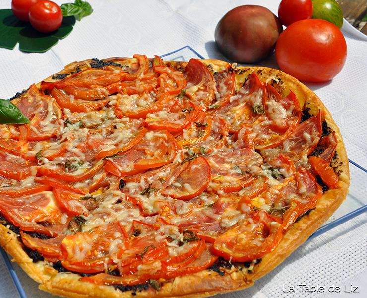 tarte fine tomate tapenade de La Table de Liz