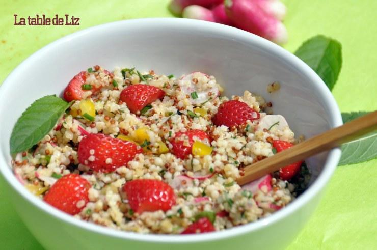 Taboulé de quinoa aux herbes du jardin, recette végétarienne de La Table De Liz