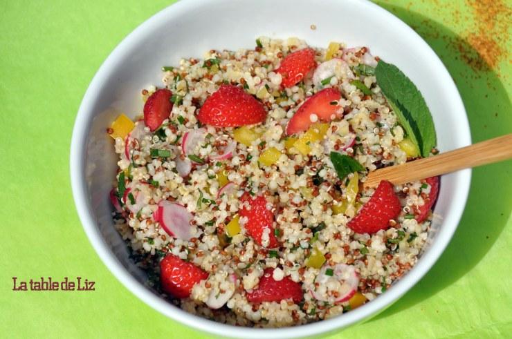 Taboulé de quinoa aux herbes du jardin de La Table De Liz.