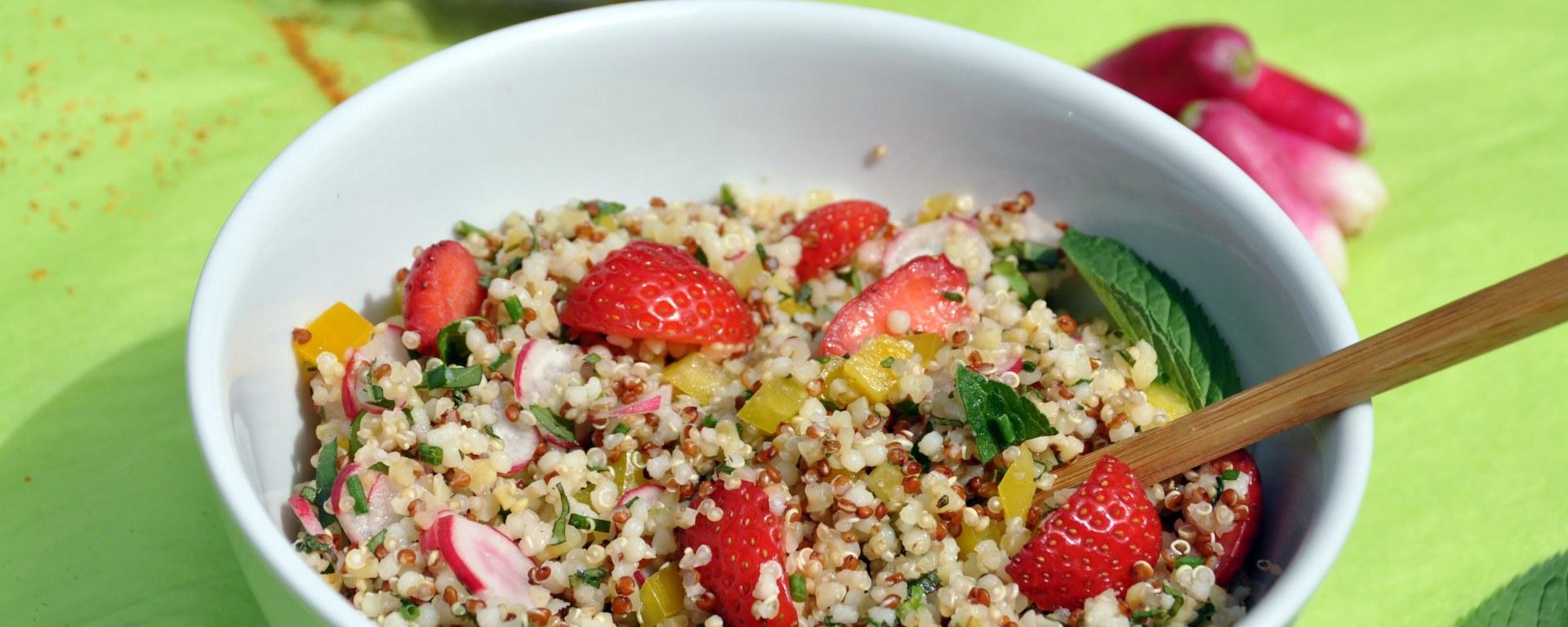 Taboulé de quinoa aux herbes du jardin de La Table De Liz