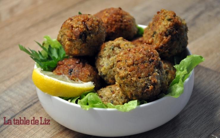 Falafels aux pois chiches et fèves de La Table de Liz