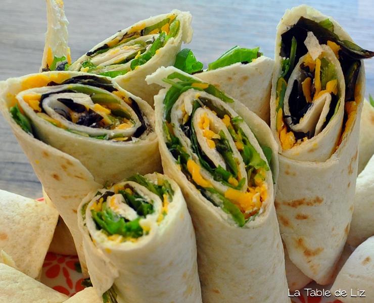 Wraps mimolette et jeunes pousses d'épinards, recette végétarienne de La Table de Liz