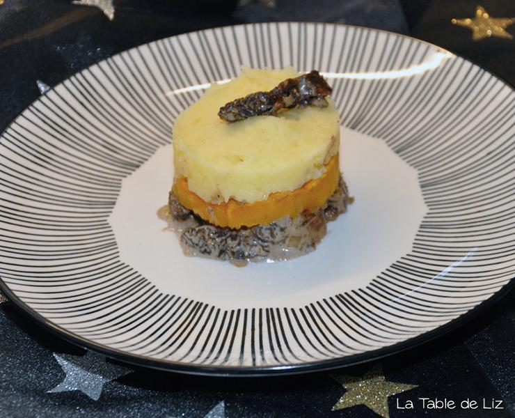 Parmentier de morilles flambées au Porto, recette de Noël végétarienne de La Table de Liz