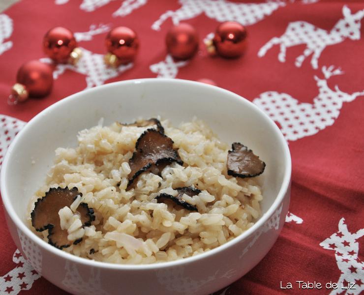 Risotto à la truffe, recette végétarienne de La Table de Liz